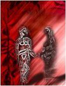 Adam en Eva, schematisch uitgebeeld op islamitische website