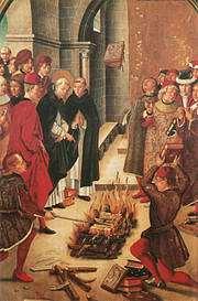 Boekverbrandingen door de Spaanse inquisitie