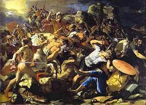 Jozua verdrijft de Amorieten
