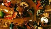 Fragment van Het laatste Oordeel van Jeroen Bosch; middeleeuws concept van eeuwige straf.
