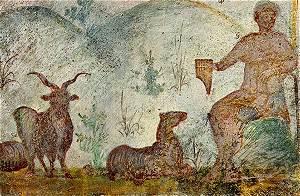 Orpheus in christelijke catacombe van Domitilla
