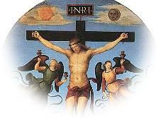 Crucifix van Rafaello met Sol en Luna.